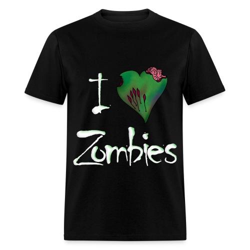 I heart zombies shirt - Men's T-Shirt