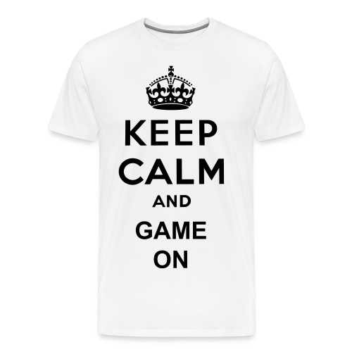 Keep Calm Game On - Men's Premium T-Shirt