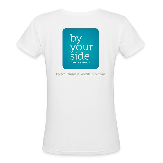 Women's V Neck T-shirt - By Your Side logo