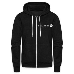 Breakers.TV Hoodie - Unisex Fleece Zip Hoodie by American Apparel