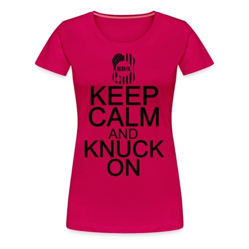 BDR Womens Keep Calm Tee - Women's Premium T-Shirt
