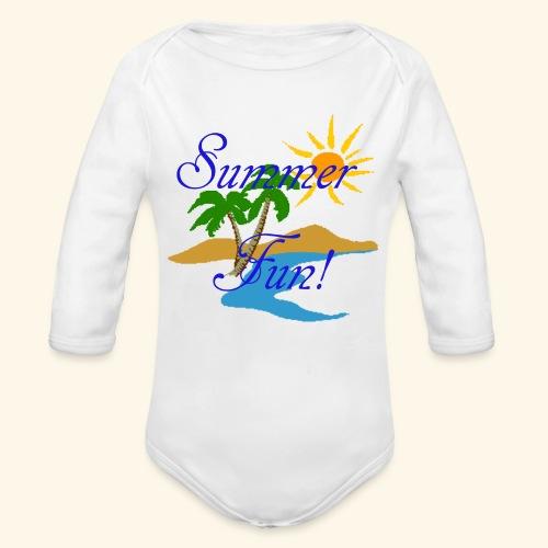 Summer Fun - Organic Long Sleeve Baby Bodysuit