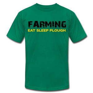 Farming Eat Sleep Plough - Uk Verson - Men's T-Shirt by American Apparel