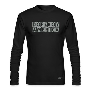 DOPEBOY AMERICA LONG SLEEVE - Men's Long Sleeve T-Shirt by Next Level