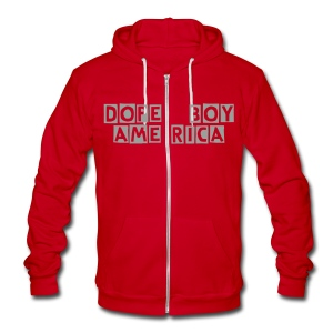 DOPEBOY AMERICA  ZIP UP HOODY - Unisex Fleece Zip Hoodie
