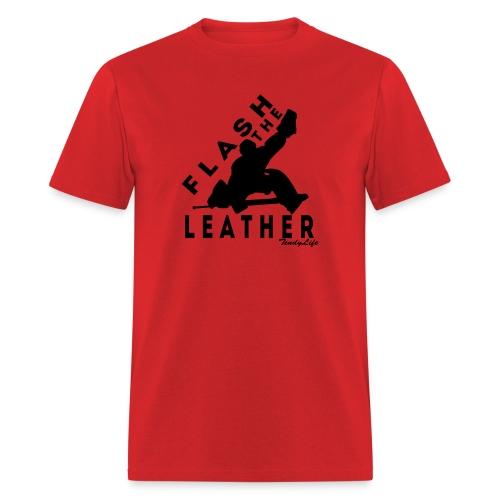 Flash The Leather (Black Logo) - Men's T-Shirt