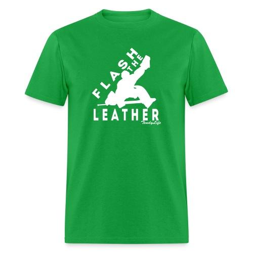 Flash The Leather (White Logo) - Men's T-Shirt