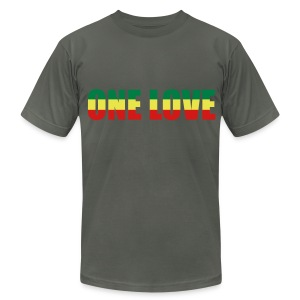 One love - Men's T-Shirt by American Apparel