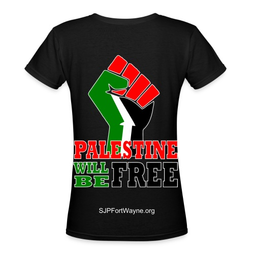 Palestine Will Be Free TShirt - Women's V-Neck T-Shirt