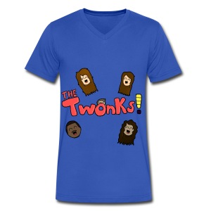The Twonks Logo V-Neck T-Shirt - Men's V-Neck T-Shirt by Canvas