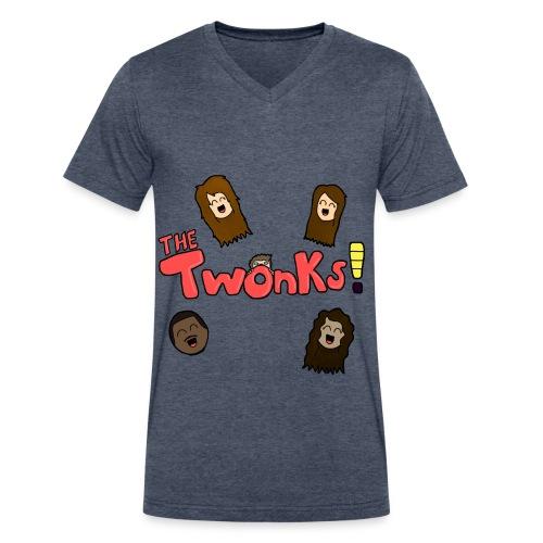 The Twonks Logo V-Neck T-Shirt - Men's V-Neck T-Shirt by Canvas