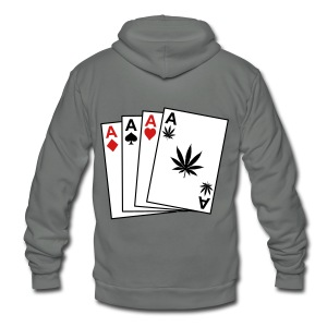 Weed - Unisex Fleece Zip Hoodie by American Apparel