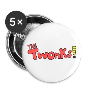 The Twonks Button (Pack of five) - Small Buttons