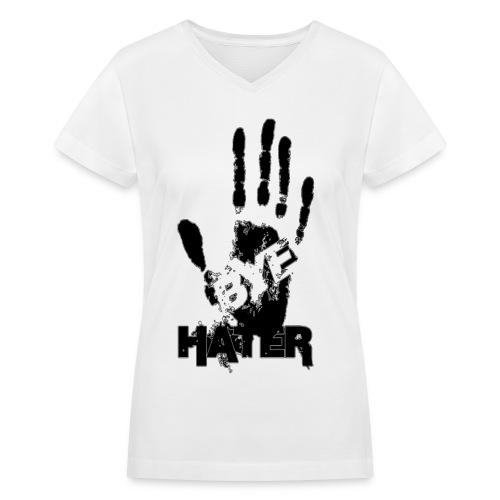 Bye Hater Womens V-neck - Women's V-Neck T-Shirt