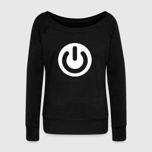 Geek Power Symbol Ideology - Women's Wideneck Sweatshirt