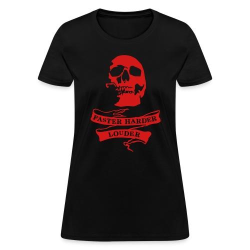harder faster louder t shirt all american tattoo - Women's T-Shirt