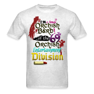 T-Shirts ~ Men's T-Shirt ~ Mens Tee: Orc Bard Colour