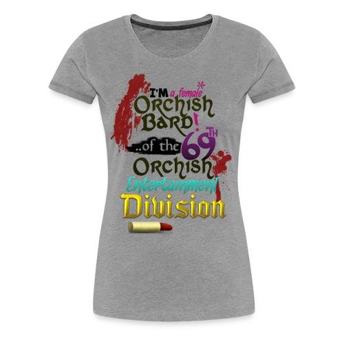 Ladies Tee: Orc Bard Colour - Women's Premium T-Shirt