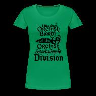 Women's T-Shirts ~ Women's Premium T-Shirt ~ Ladies Tee: Orc Bard