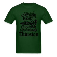 T-Shirts ~ Men's T-Shirt ~ Mens Tee: Orc Bard B/W
