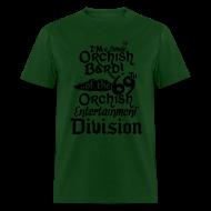 T-Shirts ~ Men's T-Shirt ~ Mens Tee: Orc Bard B/W