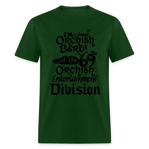 Mens Tee: Orc Bard B/W - Men's T-Shirt