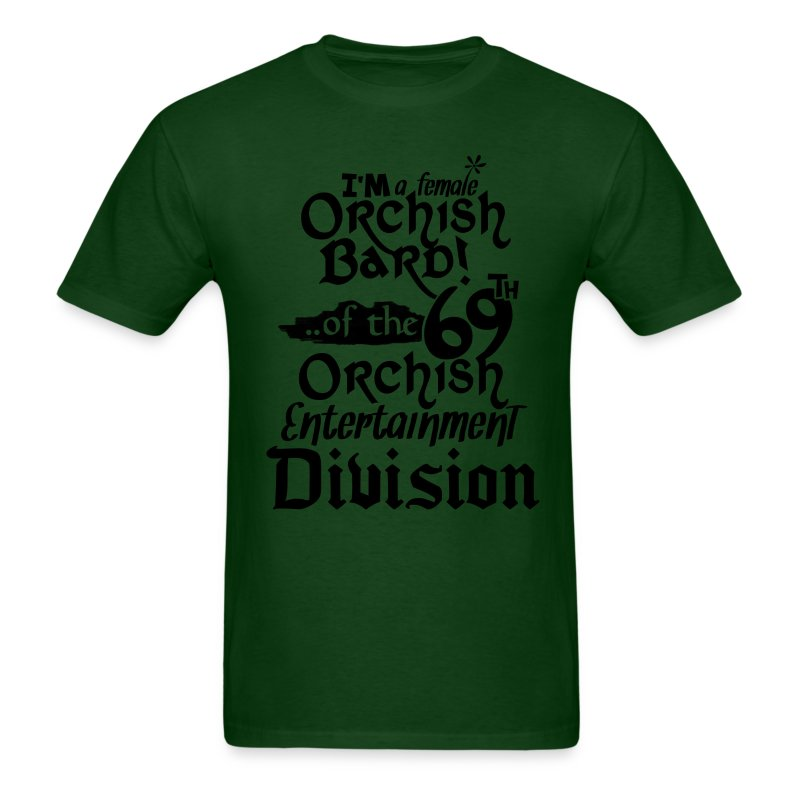 Mens Tee: Orc Bard B/W - Men's T-Shirt