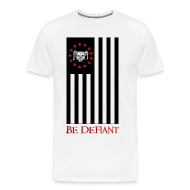 T-Shirts ~ Men's Premium T-Shirt ~ Red, White, and Black Flag