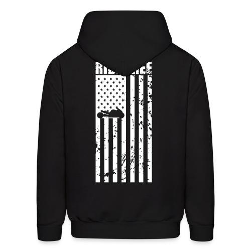 S&S RIDE FREE U.S.A. WHITE - Men's Hoodie