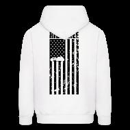 Hoodies ~ Men's Hoodie ~ S&S RIDE FREE U.S.A. BLACK