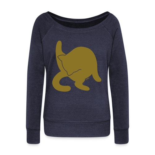 Gold Cat - Women's Wideneck Sweatshirt