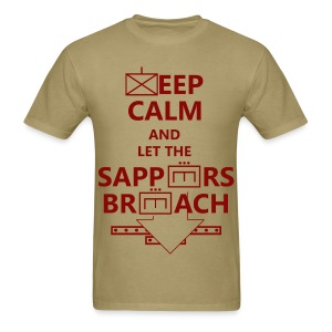 SAPPERS BREACH RED LETTERING - Men's T-Shirt