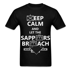 SAPPERS BREACH WHITE LETTERING - Men's T-Shirt