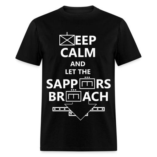 SAPPERS BREACH WHITE LETTERING - Men's T-Shirt