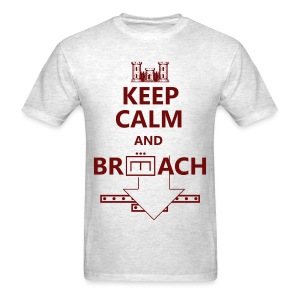 BREACH RED LETTERING - Men's T-Shirt