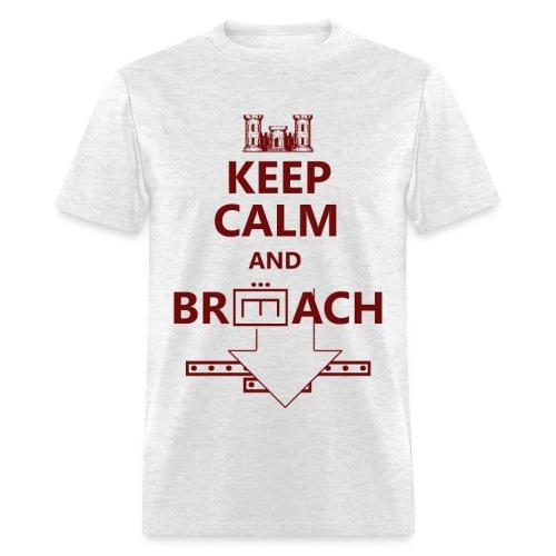 BREACH RED LETTERING - Men's T-Shirt