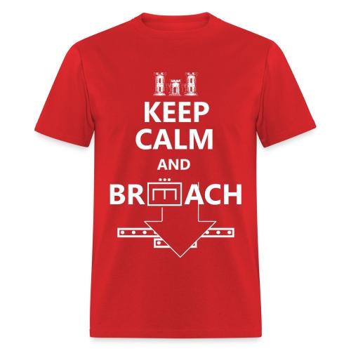 BREACH WHITE LETTERING - Men's T-Shirt