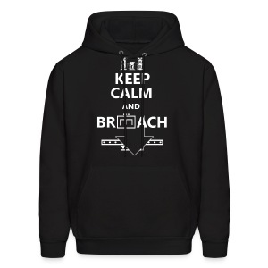 BREACH WHITE LETTERING - Men's Hoodie