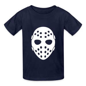 Hockey Hooligan Youth T-Shirt - Navy with White Mask - Kids' T-Shirt
