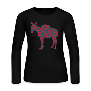 Scent of a Mule ( Fish print ) - Women's Long Sleeve Jersey T-Shirt