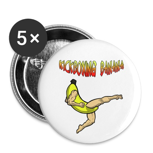 Kickboxing Banana Design #2 - Large Buttons