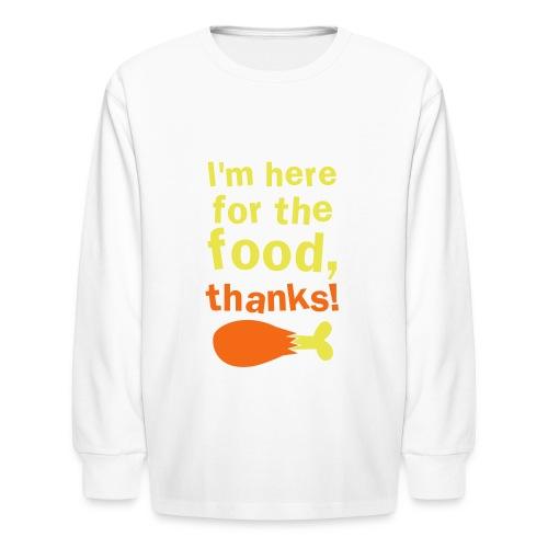 Feed Me, I'm Honest - Kids' Long Sleeve T-Shirt
