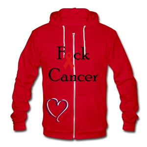 Fuck Cancer - Unisex Fleece Zip Hoodie by American Apparel