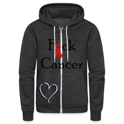 Fuck Cancer - Unisex Fleece Zip Hoodie