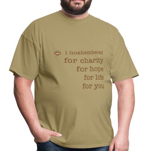 I Noshembered Dude's Tee with Noshember.com Logo - Men's T-Shirt