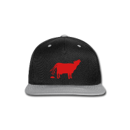 Caps ~ Snap-back Baseball Cap ~ Meat the Cows