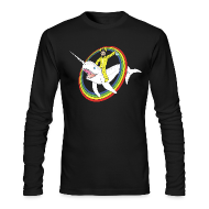 Long Sleeve Shirts ~ Men's Long Sleeve T-Shirt by American Apparel ~ Walter White on a Narwhal