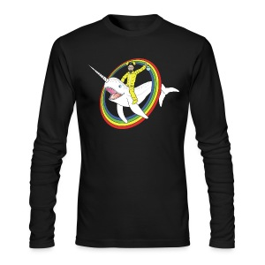 Walter White on a Narwhal  - Men's Long Sleeve T-Shirt by Next Level