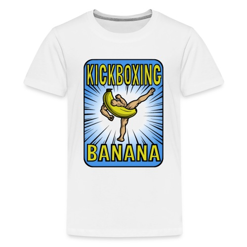 Kickboxing Banana Design #3 - Kids' Premium T-Shirt