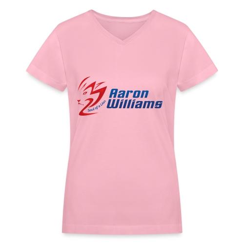 Offical Aaron William's Women's V-Neck - Women's V-Neck T-Shirt